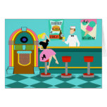 Retro Soda Fountain Greeting Card