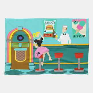 Retro Soda Fountain Kitchen Towels