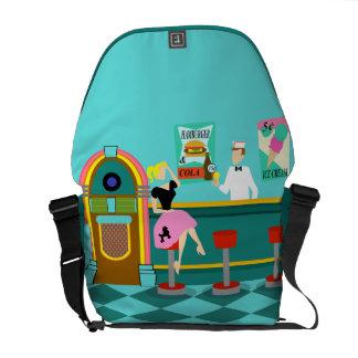Retro Soda Fountain Messenger Bag