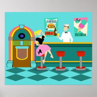 Retro Soda Fountain Poster