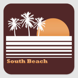 Retro South Beach Stickers