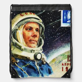 RETRO SPACE AGE 1960's ASTRONAUT Drawstring Bag