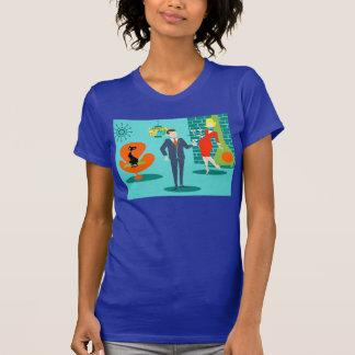 Retro Space Age Cartoon Couple T-Shirt