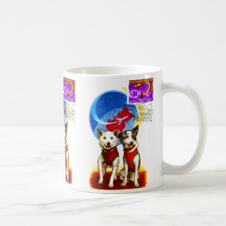 RETRO SPACE AGE (DOG ASTRONAUTS 1960's USSR ) Coffee Mug