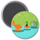 Retro Space Age Kitty Magnet