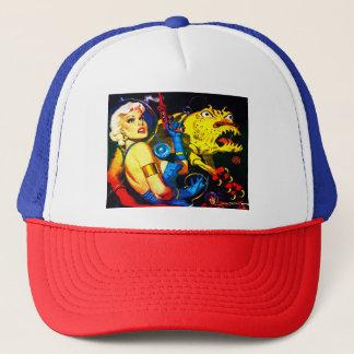 RETRO SPACE AGE SCI FI COMICS TRUCKER HAT