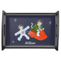 Retro Space Cats Serving Tray