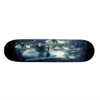 Retro Space cruiser  - The Race Custom Skateboard