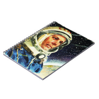 RETRO SPACE EXPLORATION ASTRONAUT SPIRAL NOTEBOOK