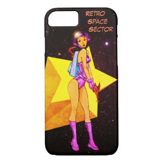 Retro Space Girl Colored iPhone 8/7 Case
