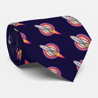 Retro Space Rocket Tie