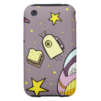 Retro Space Voyage Tough iPhone 3 Covers