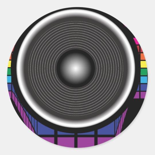 Retro Speaker Classic Round Sticker