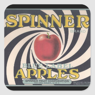 Retro Spinner apple brand stickers