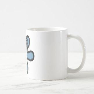 Retro Splat Rocket Black Blue Mugs
