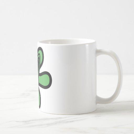 Retro Splat Rocket Black Green Mug