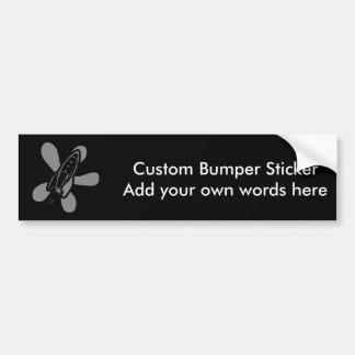 Retro Splat Rocket Black Grey Bumper Sticker
