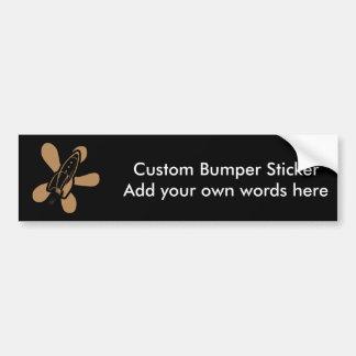 Retro Splat Rocket Black Orange Bumper Sticker