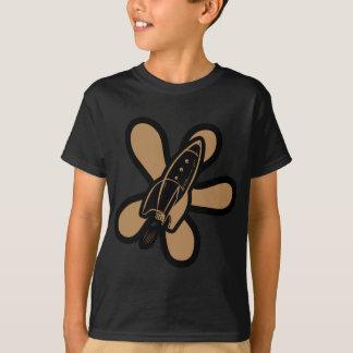 Retro Splat Rocket Black Orange T-Shirt