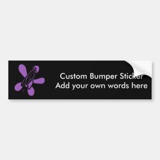 Retro Splat Rocket Black Purple Bumper Sticker