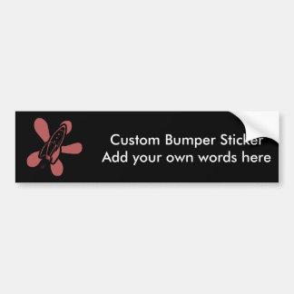 Retro Splat Rocket Black Red Bumper Sticker