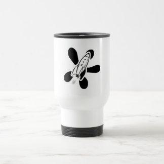 Retro Splat Rocket White & Black Coffee Mugs