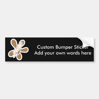 Retro Splat Rocket White Orange Bumper Stickers