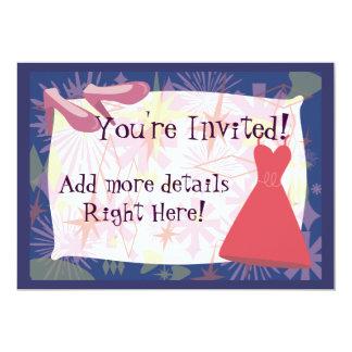 Retro Spunky Gal Invitation