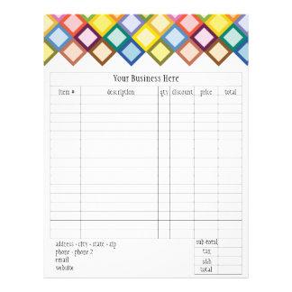 Retro Squares Bright Order Form 21.5 Cm X 28 Cm Flyer