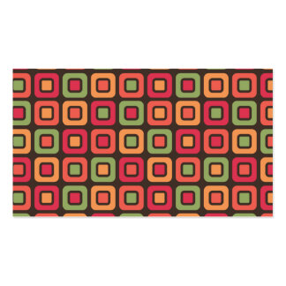 Retro Squares -Forest Sun- Pack Of Standard Business Cards