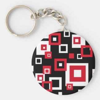 Retro squares - Keychain