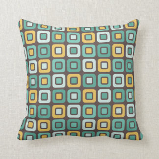 Retro Squares -Minty Mustard- Cushion