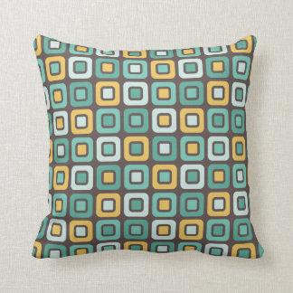 Retro Squares -Minty Mustard- Cushions