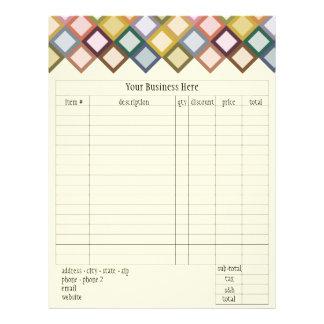 Retro Squares Order Form 21.5 Cm X 28 Cm Flyer