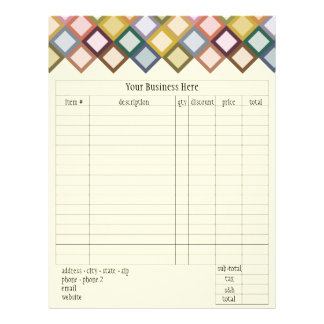 Retro Squares Order Form Custom Flyer