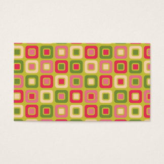 Retro Squares -Pink and Green-