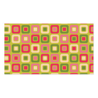 Retro Squares -Pink and Green- Pack Of Standard Business Cards
