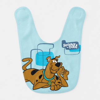 Retro Squares Scooby-Doo Lying Down Bib