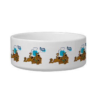 Retro Squares Scooby-Doo Lying Down Pet Water Bowl