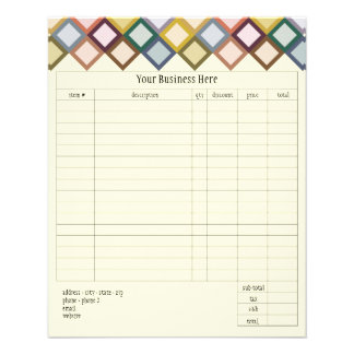 Retro Squares Small Order Form Flyers