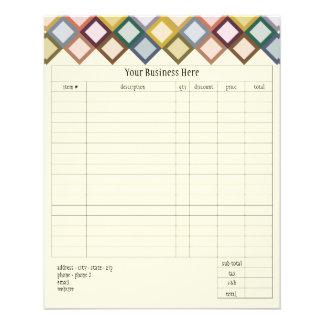 Retro Squares Small Order Form 11.5 Cm X 14 Cm Flyer