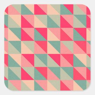 retro squares square sticker