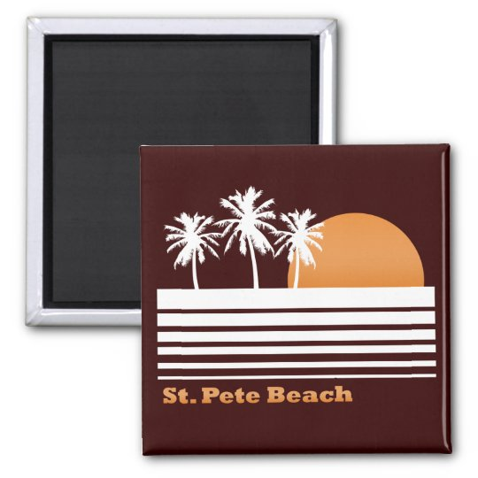 Retro St Pete Beach Magnet