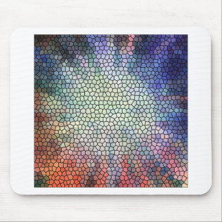 Retro stained glass mouse pad