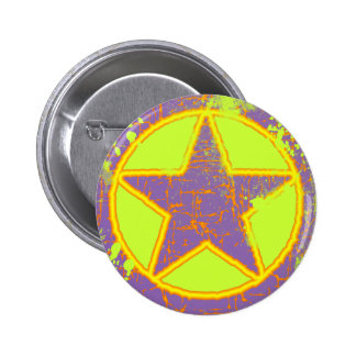 RETRO STAR 6 CM ROUND BADGE