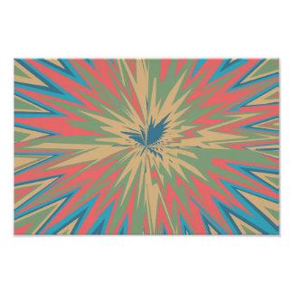 Retro star abstract design photo print
