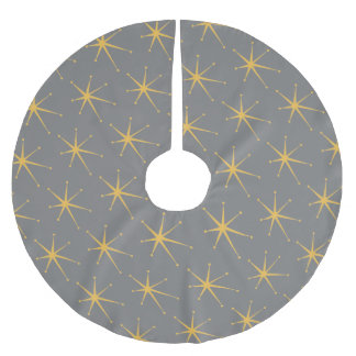 Retro Star Brushed Polyester Tree Skirt