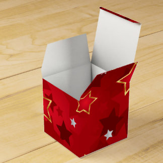 Retro Star Pattern Favour Box