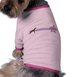 Retro Star Whippet Doggie T Shirt