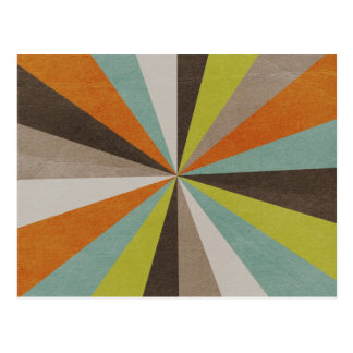 Retro Starburst Pattern Postcard